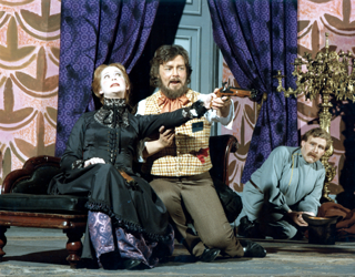 JR and Rachael Gettler in The Bear with Michael Carlyl in 1976